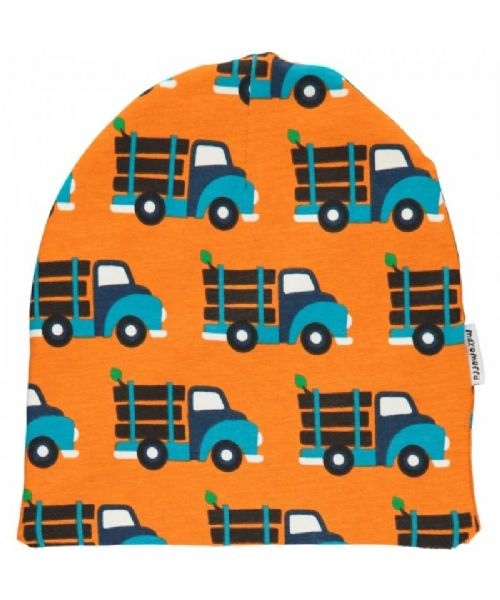 Maxomorra Beanie Velour Hat Log Truck